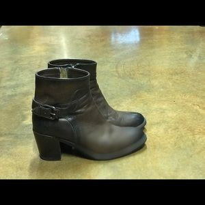 Frye dark chocolate ankle boots